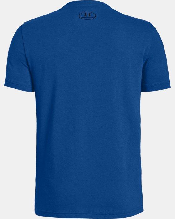Boys' UA BH34 Icon Short Sleeve T-Shirt, Blue, pdpMainDesktop image number 1