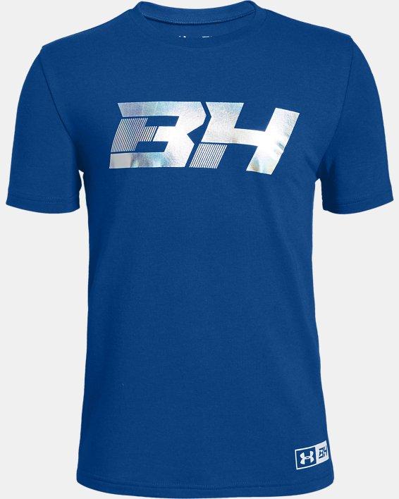 Boys' UA BH34 Icon Short Sleeve T-Shirt, Blue, pdpMainDesktop image number 0
