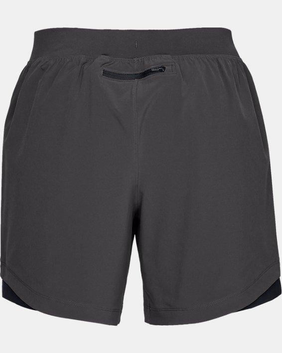 Short sans doublure UA Speedpocket 15cm pour homme, Gray, pdpMainDesktop image number 4