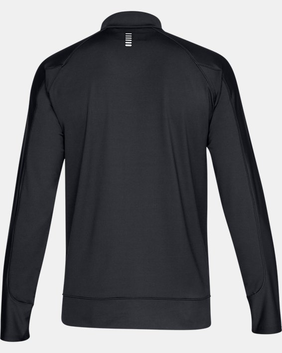 Men's ColdGear® Run Knit Jacket, Black, pdpMainDesktop image number 4