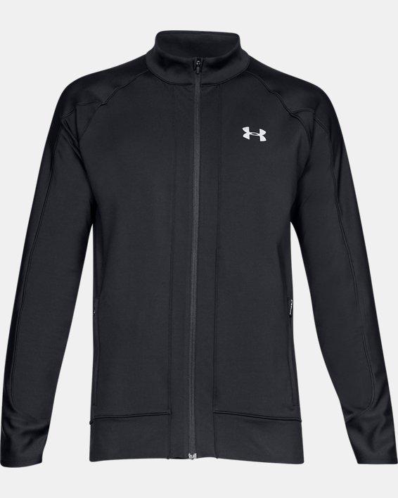 Men's ColdGear® Run Knit Jacket, Black, pdpMainDesktop image number 3