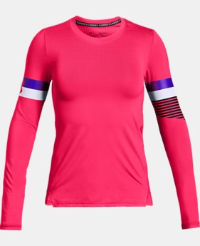 Girls' HeatGear® Armour Long Sleeve  2  Colors Available $30