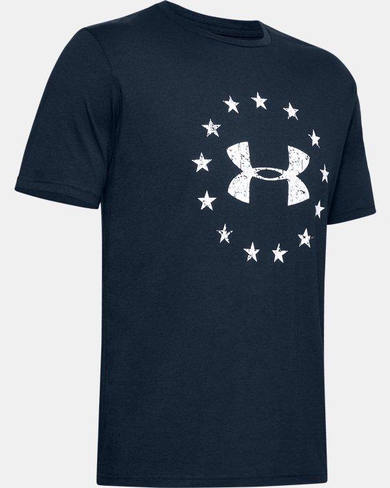 Men's UA Freedom Logo Short Sleeve, Navy, pdpMainDesktop image number 4