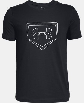 New Arrival Boys' UA Plate Icon Short Sleeve T-Shirt  1  Color Available $20