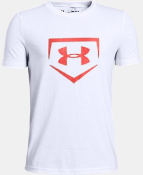 Boys' UA Plate Icon Short Sleeve T-Shirt  1  Color Available $20