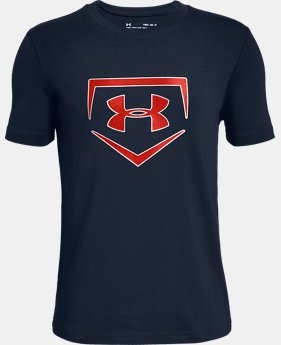 New Arrival Boys' UA Plate Icon Short Sleeve T-Shirt  2  Colors Available $20