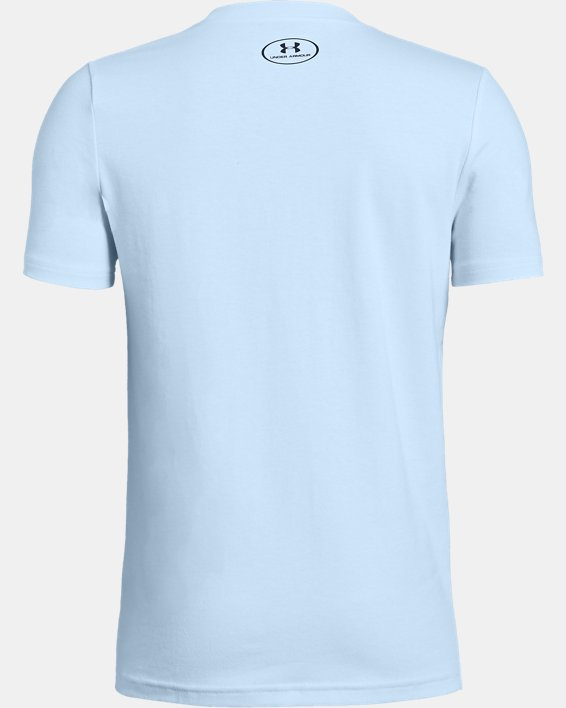 Boys' UA Plate Icon Short Sleeve T-Shirt, Blue, pdpMainDesktop image number 1