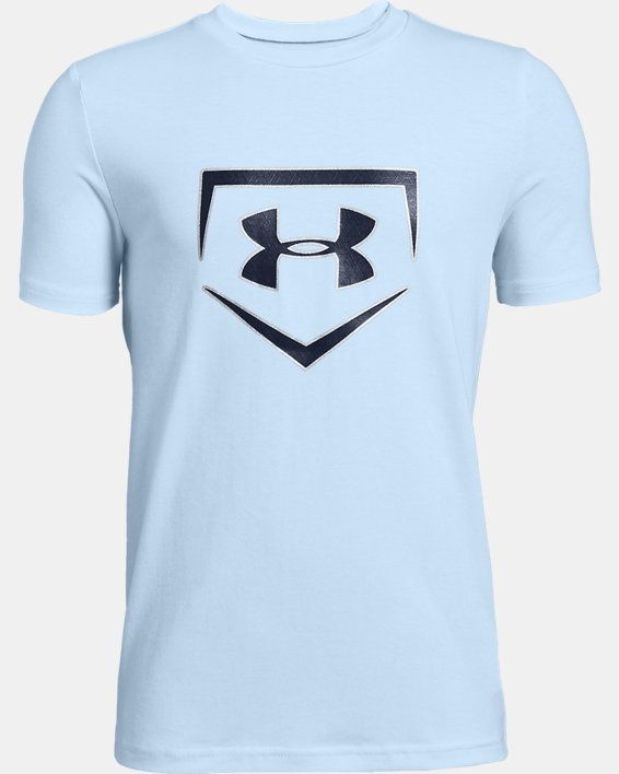Boys' UA Plate Icon Short Sleeve T-Shirt, Blue, pdpMainDesktop image number 0