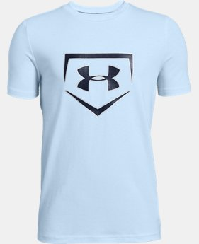 Boys' UA Plate Icon Short Sleeve T-Shirt  2  Colors Available $20