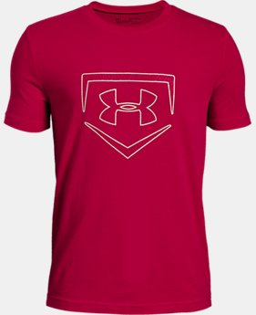 Boys' UA Plate Icon Short Sleeve T-Shirt  3  Colors Available $20