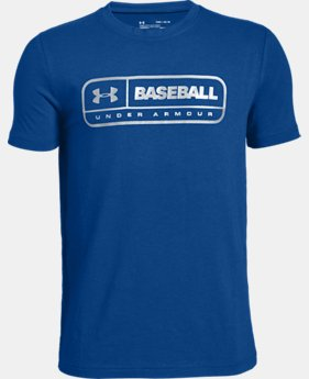 Boys' UA LockerTag Short Sleeve T-Shirt  1  Color Available $20