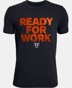 Boys' UA Ready4Work Short Sleeve T-Shirt  4  Colors Available $20