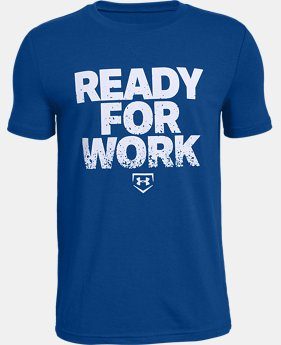 Boys' UA Ready4Work Short Sleeve T-Shirt  1  Color Available $20