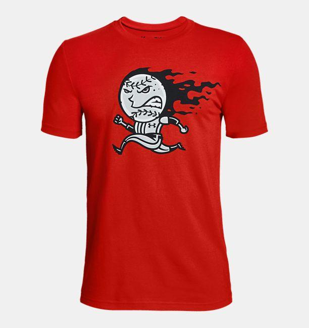 110719471a Boys' UA Fastballer Short Sleeve T-Shirt