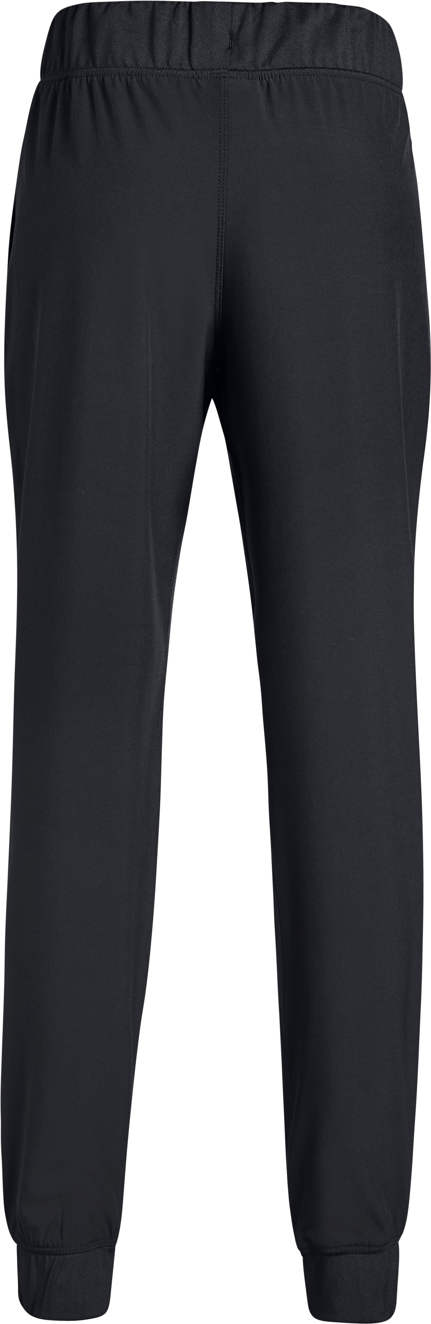 Girls' UA Woven Warm Up Pants, Black ,