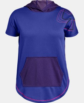 Girls' UA Tech™ Short Sleeve Hoodie  1  Color Available $35