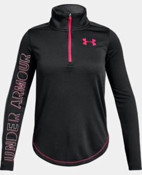 Girls' UA Tech™ ½ Zip  4  Colors Available $45