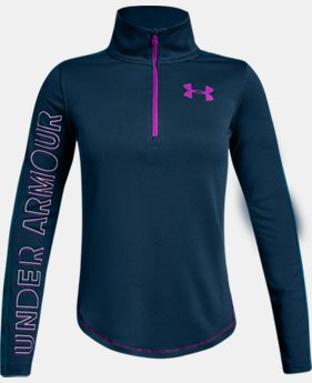 New Arrival  Girls' UA Tech™ ½ Zip  4  Colors Available $45