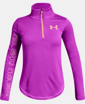 Girls' UA Tech™ ½ Zip  5  Colors Available $35