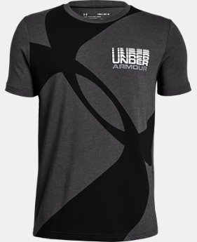 Boys' UA Mega Duo Logo Short Sleeve T-Shirt  2  Colors Available $20