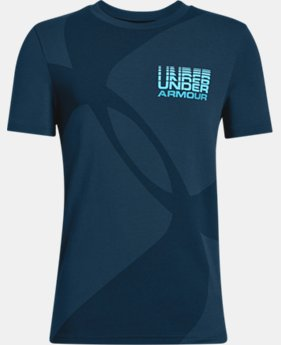 New Arrival  Boys' UA Mega Duo Logo Short Sleeve T-Shirt  1  Color Available $25