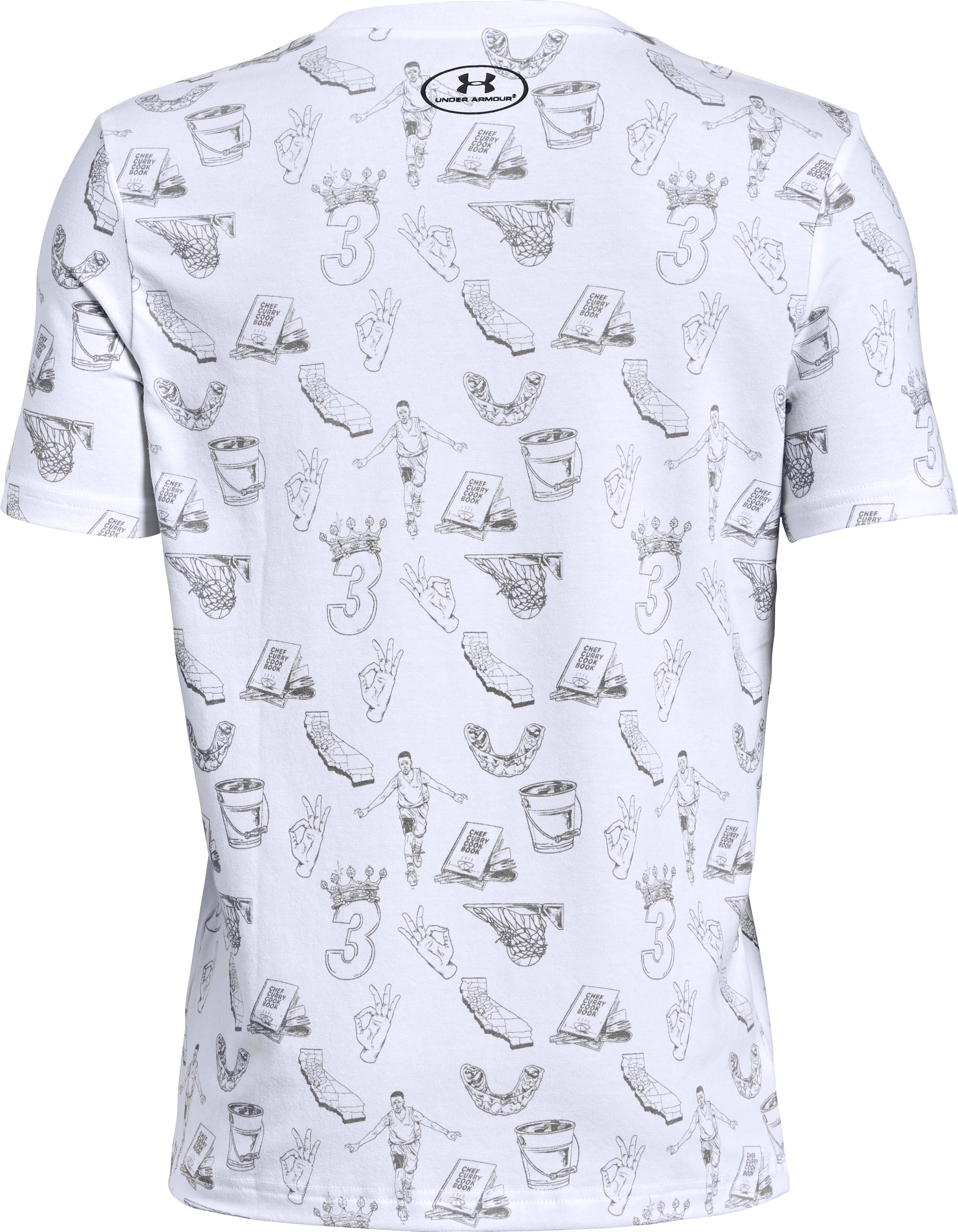 Boys' SC30 Printed Short Sleeve T-Shirt, White,