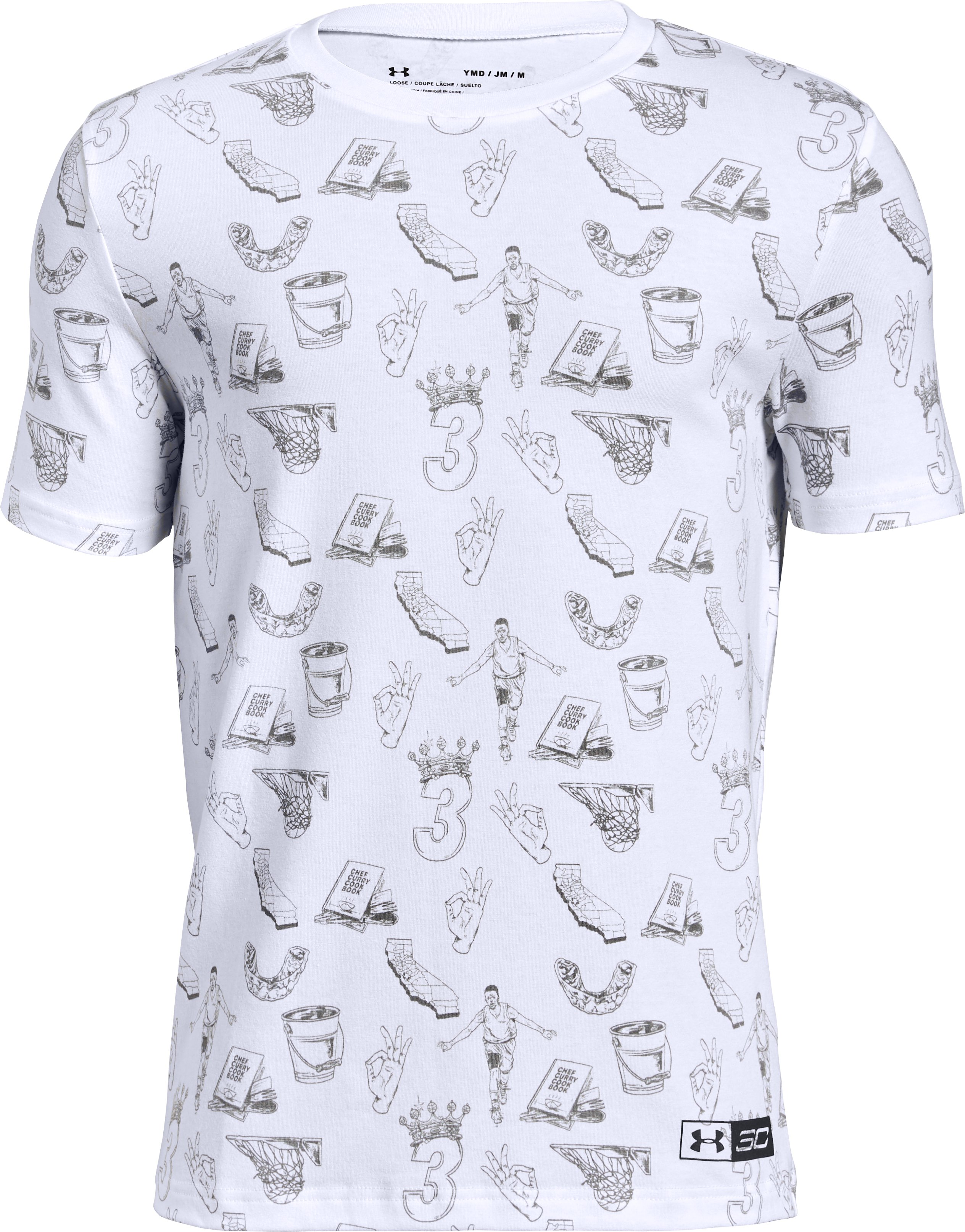 Boys' SC30 Printed Short Sleeve T-Shirt, White