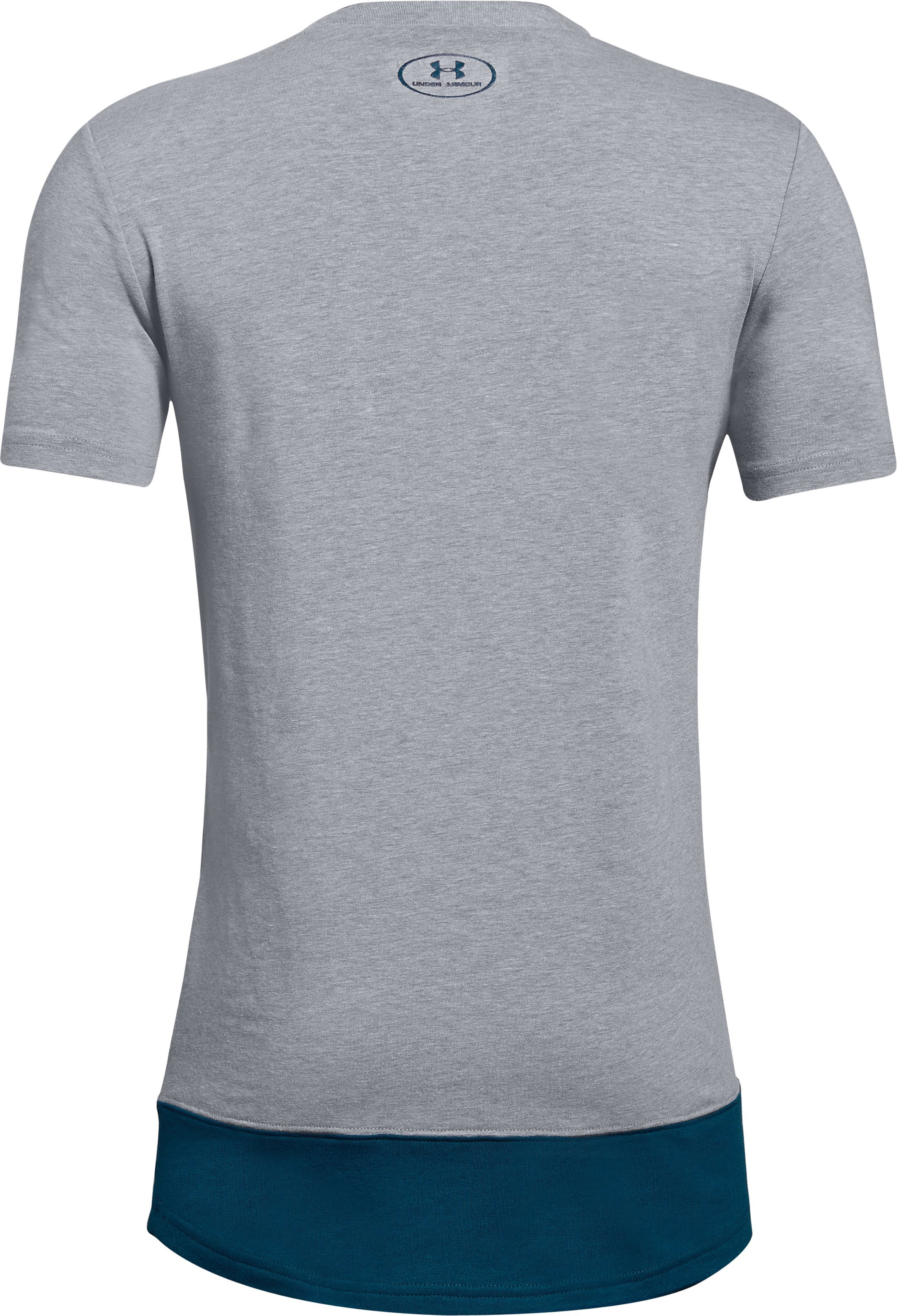 Boys' UA Dominate The Division Short Sleeve T-Shirt, STEEL LIGHT HEATHER,