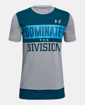 cdbe95d17 New to Outlet Boys  UA Dominate The Division Short Sleeve T-Shirt 2 Colors