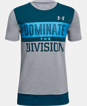 New Arrival  Boys' UA Dominate The Division Short Sleeve T-Shirt  2  Colors Available $30
