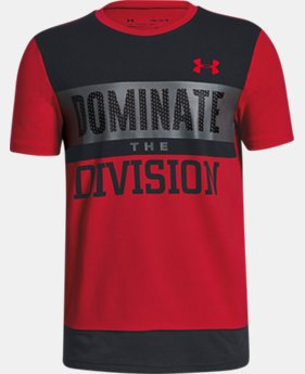Boys' UA Dominate The Division Short Sleeve T-Shirt  2  Colors Available $25
