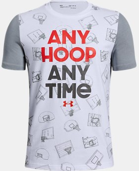 Boys' UA Any Hoop Any Time Short Sleeve T-Shirt  1  Color Available $25