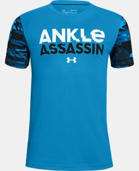 New Arrival Boys' UA Ankle Assassin Short Sleeve T-Shirt  1  Color Available $25
