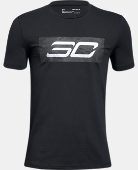 New Arrival  Boys' SC30 Logo Short Sleeve T-Shirt  1  Color Available $30