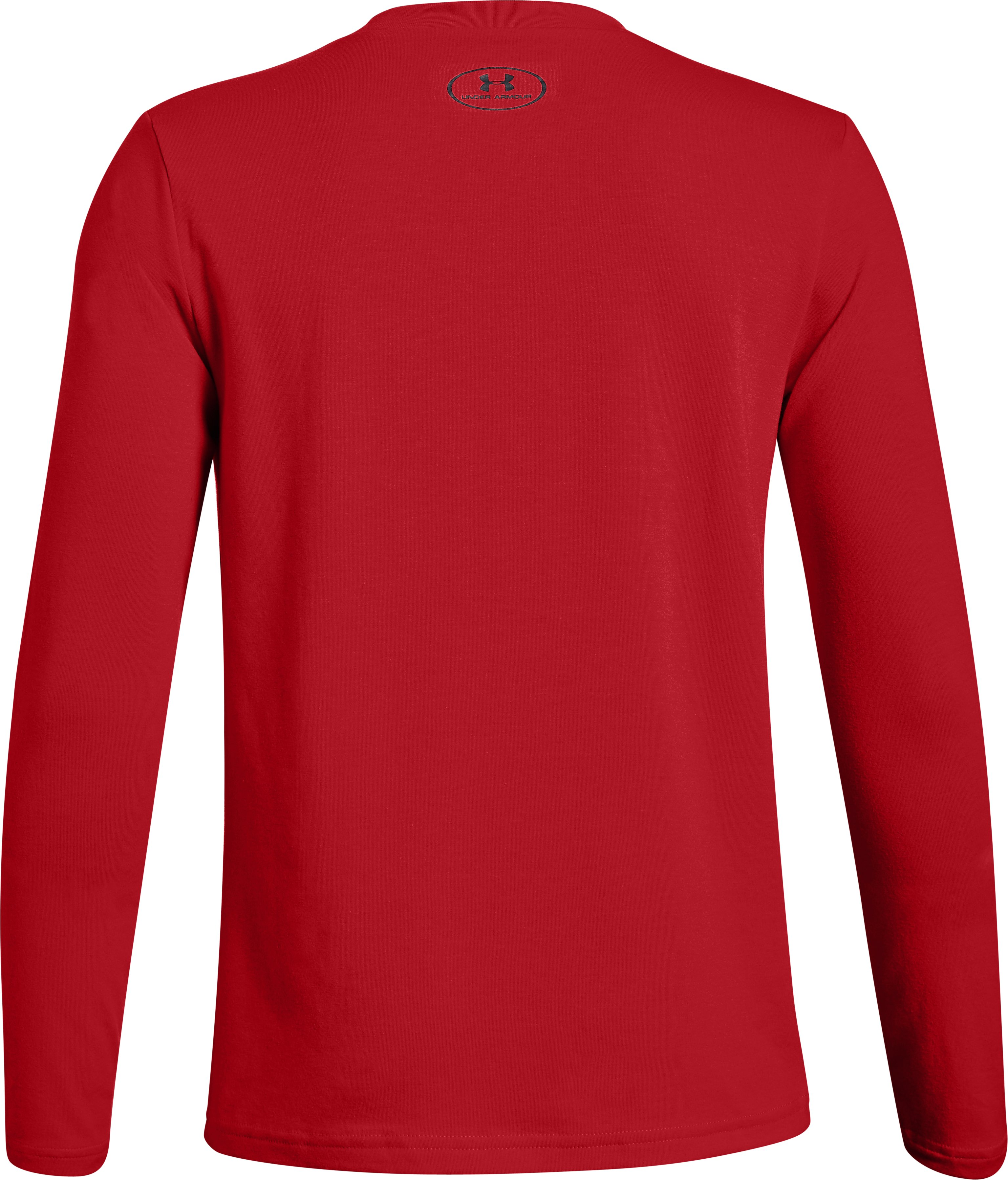 Boys' UA Electro Branded Long Sleeve T-Shirt, Red,