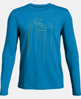 Boys' UA Electro Branded Long Sleeve T-Shirt  3  Colors Available $25