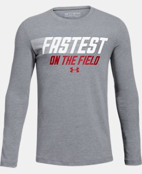 New Arrival  Boys' UA Fastest On The Field Long Sleeve T-Shirt  1  Color Available $30