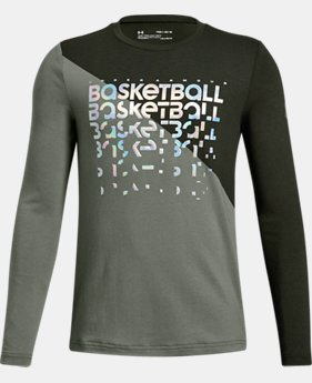 Boys' UA Basketball Repeat Long Sleeve T-Shirt  1  Color Available $30