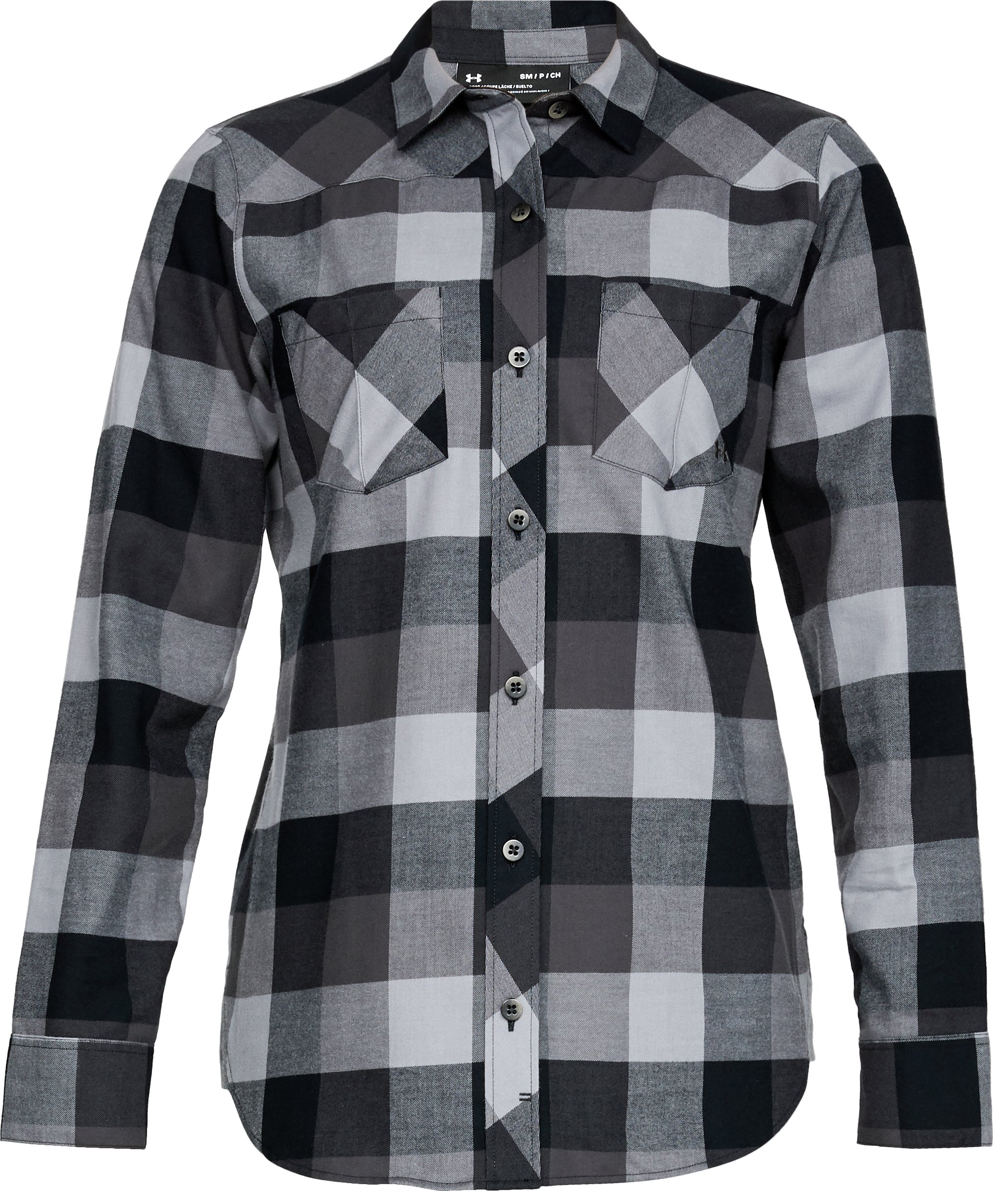 Women's UA Tradesman Flannel, Black ,