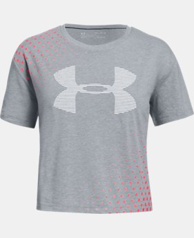Girls' UA Transit Logo T-Shirt  1  Color Available $20