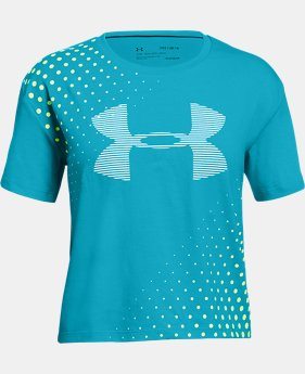 New Arrival Girls' UA Transit Logo T-Shirt  1  Color Available $20