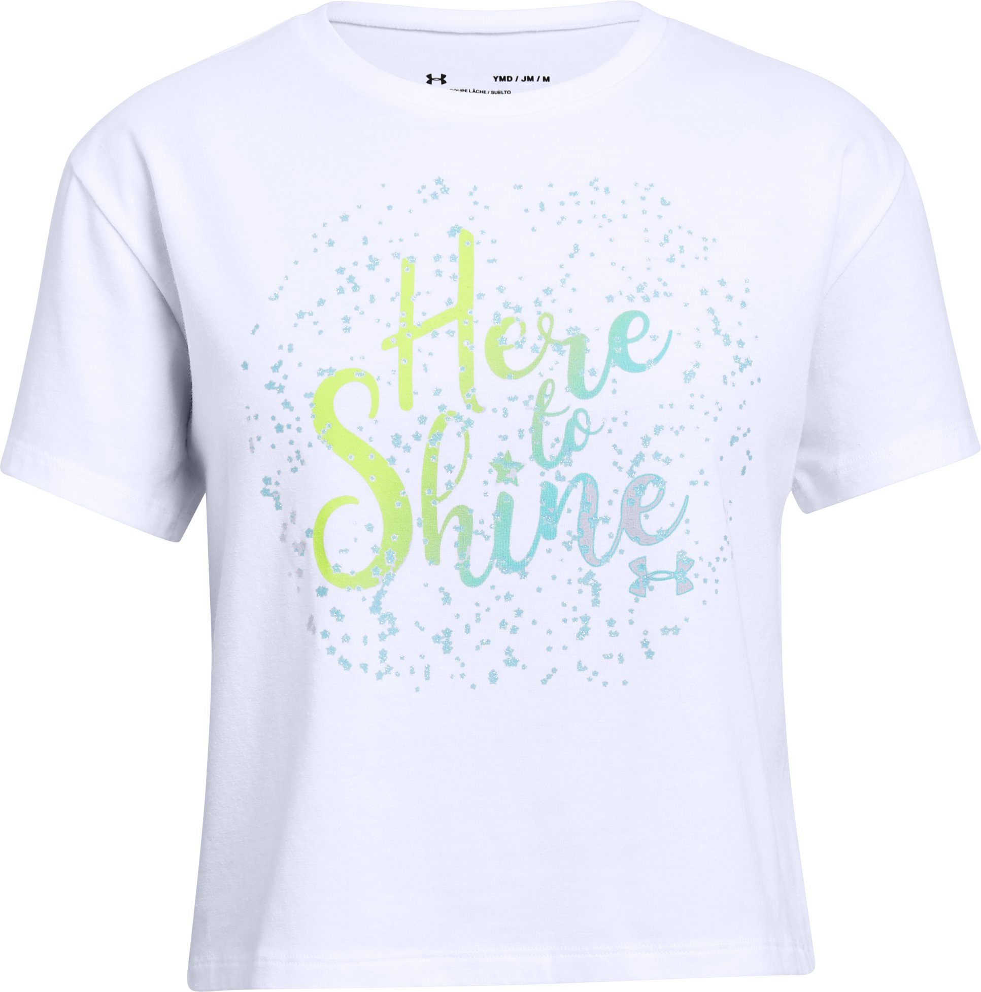 Girls' UA Here To Shine T-Shirt, White,