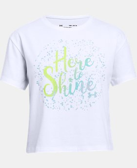 New Arrival  Girls' UA Here To Shine T-Shirt  2  Colors Available $25