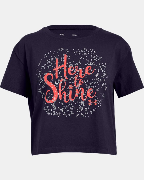 Girls' UA Here To Shine T-Shirt, Purple, pdpMainDesktop image number 0