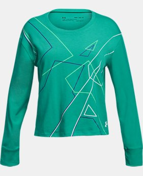 New Arrival  Girls' UA On Pointe Long Sleeve T-Shirt  1  Color Available $30