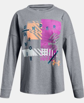 New Arrival Girls' UA Verge Branded Long Sleeve T-Shirt  1  Color Available $25