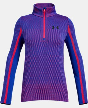 Girls' UA Seamless ½ Zip  1  Color Available $26.25 to $30