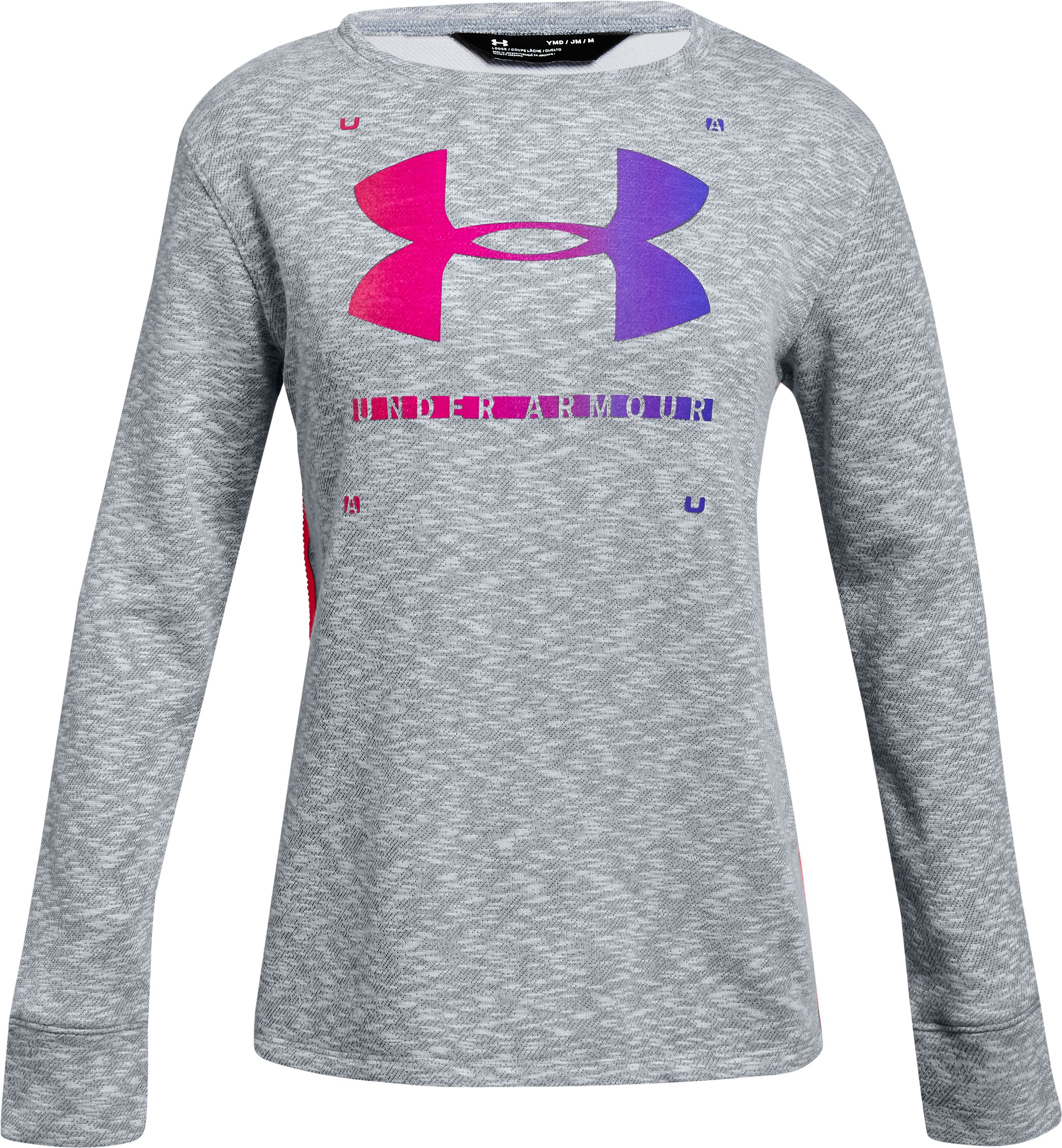 Girls' UA Finale Terry Crew, STEEL LIGHT HEATHER,