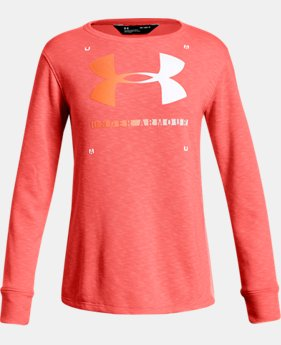 New Arrival  Girls' UA Finale Terry Crew  2  Colors Available $45