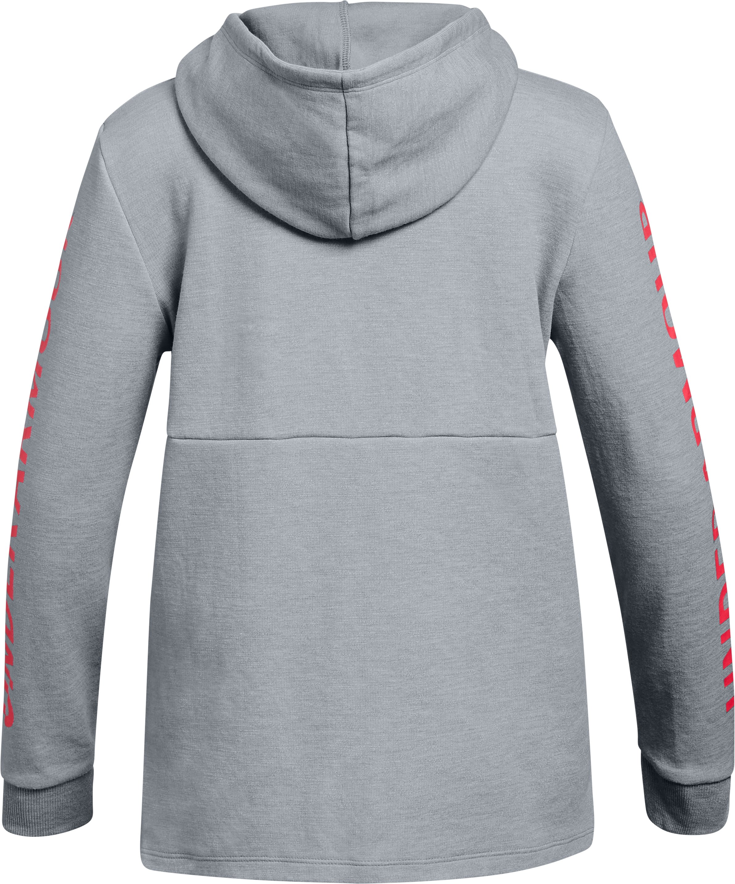 Girls' UA Double Knit Hoodie, STEEL LIGHT HEATHER,